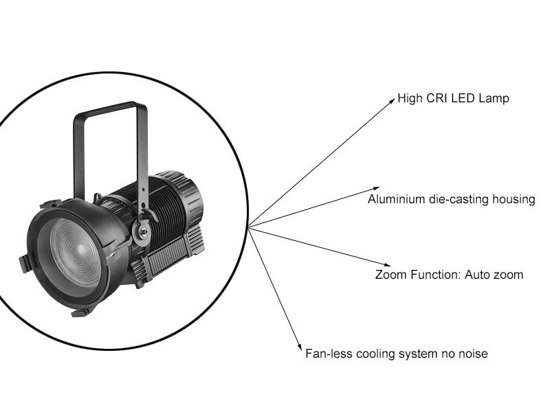 Outdoor LED Fresnel Photography Lighting Manufacturer