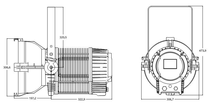 CSL-F300IP65 Fixture Dimension
