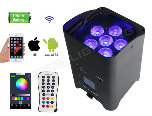 WB-S6 WIFI 6x15W 6in1 Wireless Battery DJ Light