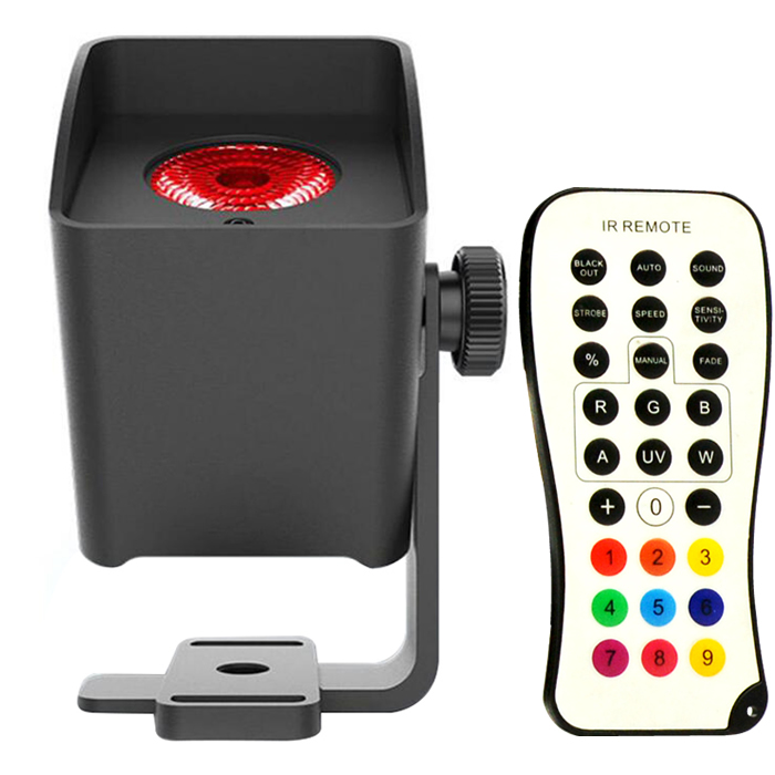 Wireless DMX Battery Powered 15W LED Pin Spot IR Romote