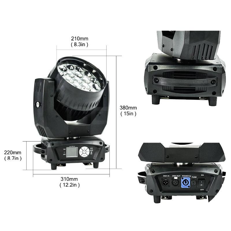 19x12W LED Moving Head Zoom